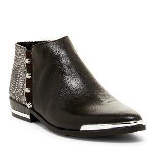 Fergie Indigo Studded Bootie in Black Leather